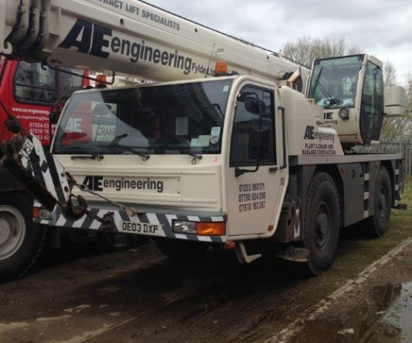 50T Crane for Hire - AE Engineering